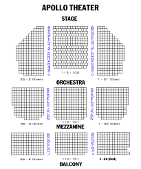 Apollo Theater Seating Chart Performing Arts Charts 2019