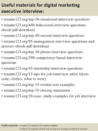 Marketing Job Resume Examples Top 8 Digital Marketing Executive Resume Samples