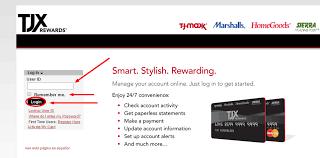 Tjmaxx Com Credit Card Tjxrewards Bill Pay Paynow