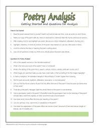 best teaching poetry images beds teaching  poetry analysis questions plus many other printables for poetry study
