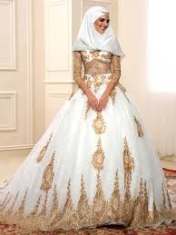 sequined appliques muslim wedding dress tbdress com