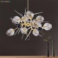 nordic lindsey adelman glass shade pendant lights big bang molecular structure dining room restaurant hanging lamps fixtures rustic pendant lights pendant
