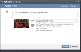 facebook max video size create a holiday video card and share it on facebook