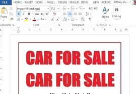 Easy Sign Up Sheet Easy To Use Car For Sale Sign Template Free Templates Word Up Sheet