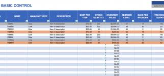 Basic Inventory Spreadsheet Basic Inventory Control Sheet Create Excel Tracking Easy