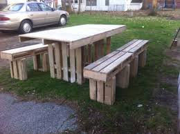 pallet furniture table. Pallets Outdoor Bench Pallet Furniture Table