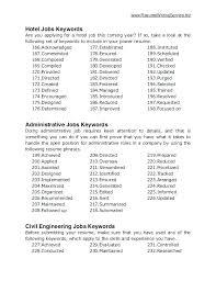 Cover Letter Key Phrases Key Resume Phrases Resume Cover Letter Key