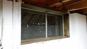 remove basement window steel frame