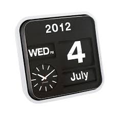 retro flip wall clock calendar and wall clock in one my dad needs this