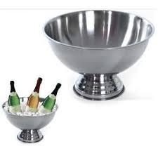 Sektkühler Edelstahl Champagner Schale Sektschale Flaschen Kühler Obstschale