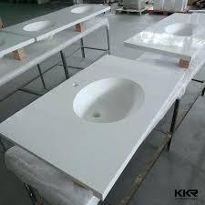 interesting bathroom sinks and commercial countertops one piece vanity tops sink combination