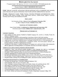 Early Childhood Education Resume Http Jobresumesample Com 1852