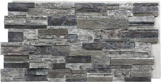 R Faux Stacked Stone Panels Exterior Home Depot Fake Siding Cheap