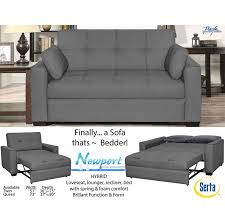 serta newport convertible sofa bed and