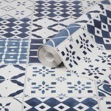 contour porches mosaic blue kitchen and bathroom wallpaper 103852