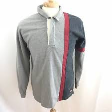 vintage woolrich striped 90s color block polo rugby shirt mens size medium
