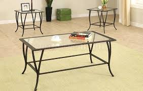 best glass metal coffee table full furnishings side tanner round matte iron bronze finish