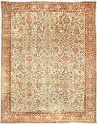 rug antique persian sultanabad beige botanical bb3336 14x11