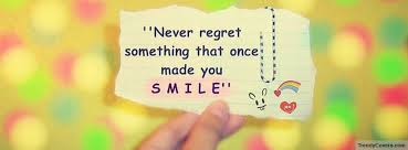Beautiful Quotes For Facebook Cover Best Of Never Regret Facebook Cover TrendyCovers