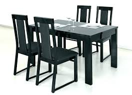 extendable dining table 6 chairs nycgratitudeorg black top dining table dining room table black gloss extending extendable dining table set black top