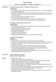Material Management Resume Sample Materials Supervisor Resume Samples Velvet Jobs