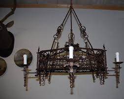 rustic wrought iron chandeliers