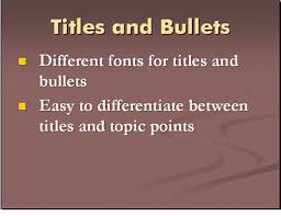 presenter tips using fonts in powerpoint use different fonts for titles and bullets in powerpoint presentations