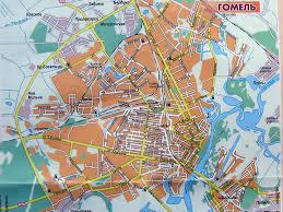 Карта Гомеля Скачать карту Гомеля Карта центра Гомеля  Карта Гомеля Скачать карту Гомеля Экскурсии по Гомельу Фото Картинка