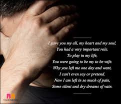 sad love poems for him i gave you my all my heart and my soul