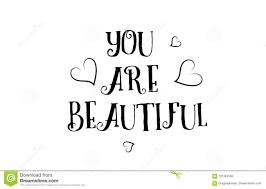 Vous êtes Belle Conception Daffiche De Carte De Voeux De Logo De
