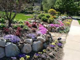 rock wall garden designs