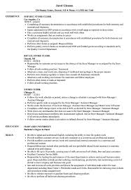 Store Clerk Resume Sample Photo In Store Clerk Resume Importance