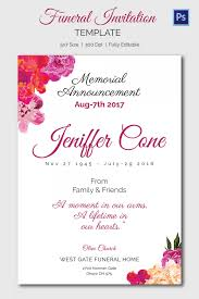Funeral Invitation Template Awesome Memorial Service Invitation Kubreeuforicco