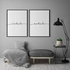 inhale exhale print yoga wall art printable wall art inhale exhale pilates art relaxation gifts inspirational print breathe print