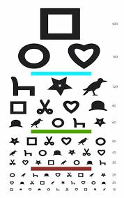 Eye Chart Poster 2019 Childrens Eye Chart Square Circle Heart Art Silk Print Poster 24x36inch60x90cm 016 From Chuy8988 10 93 Dhgate Com
