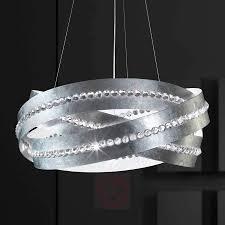 Essentia Hängeleuchte Silber Spectra Kristalle Lampenweltat
