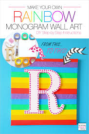 make your own rainbow wall art