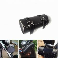 leather handlebar bags motorbike sissy bar bags side tool bags front forks motorcycle luggage motorcycle leather bag