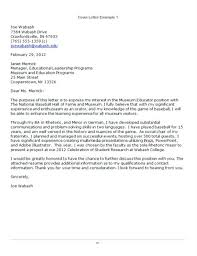 Sample Cover Letter For Student Affairs Position Ample Of A Cover