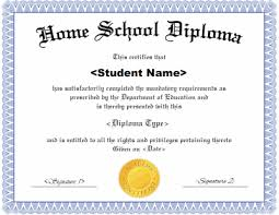 Free Homeschool Diploma Template Homeschool Diploma Template