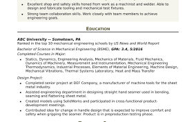 Industrial Design Engineer Sample Resume Graduate School Admission
