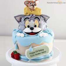 Write Name On Tom Jerry Birthday Cake For Kids Happy Birthday Wishes