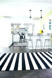 kitchen rug black and white ideas unique striped regarding gray red outdoor idea