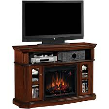 classicflame aberdeen 54 inch electric fireplace media console with traditional log set cocoa cherry 23ef031grp gas log guys