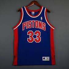 Details About 100 Authentic Grant Hill Vintage Champion Pistons Nba Jersey Size 44 M L Mens