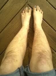 Very hairy female legs