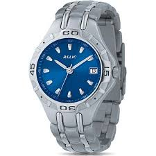 relic men s blue dial stainless steel watch shipping on relic men s blue dial stainless steel watch