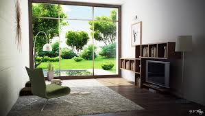Small Picture modern room with garden view Interior Design Ideas
