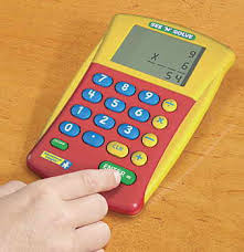 math calculators calc u vue calculator its over sized lcd screen is the perfect child friendly tool for reinforcing basic math skills the simple four function calculator sets
