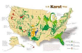 us sinkhole map map of sinkholes in the us geologic hazards iowa